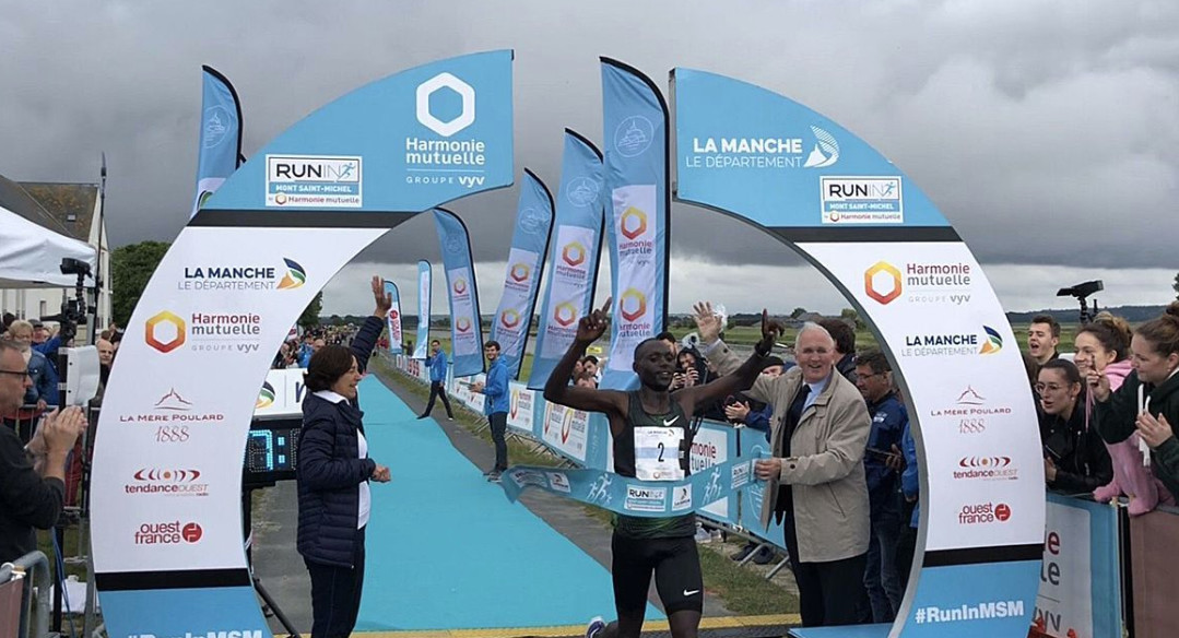 Kenyans dominated the 22nd edition of the Mont-Saint-Michel marathon