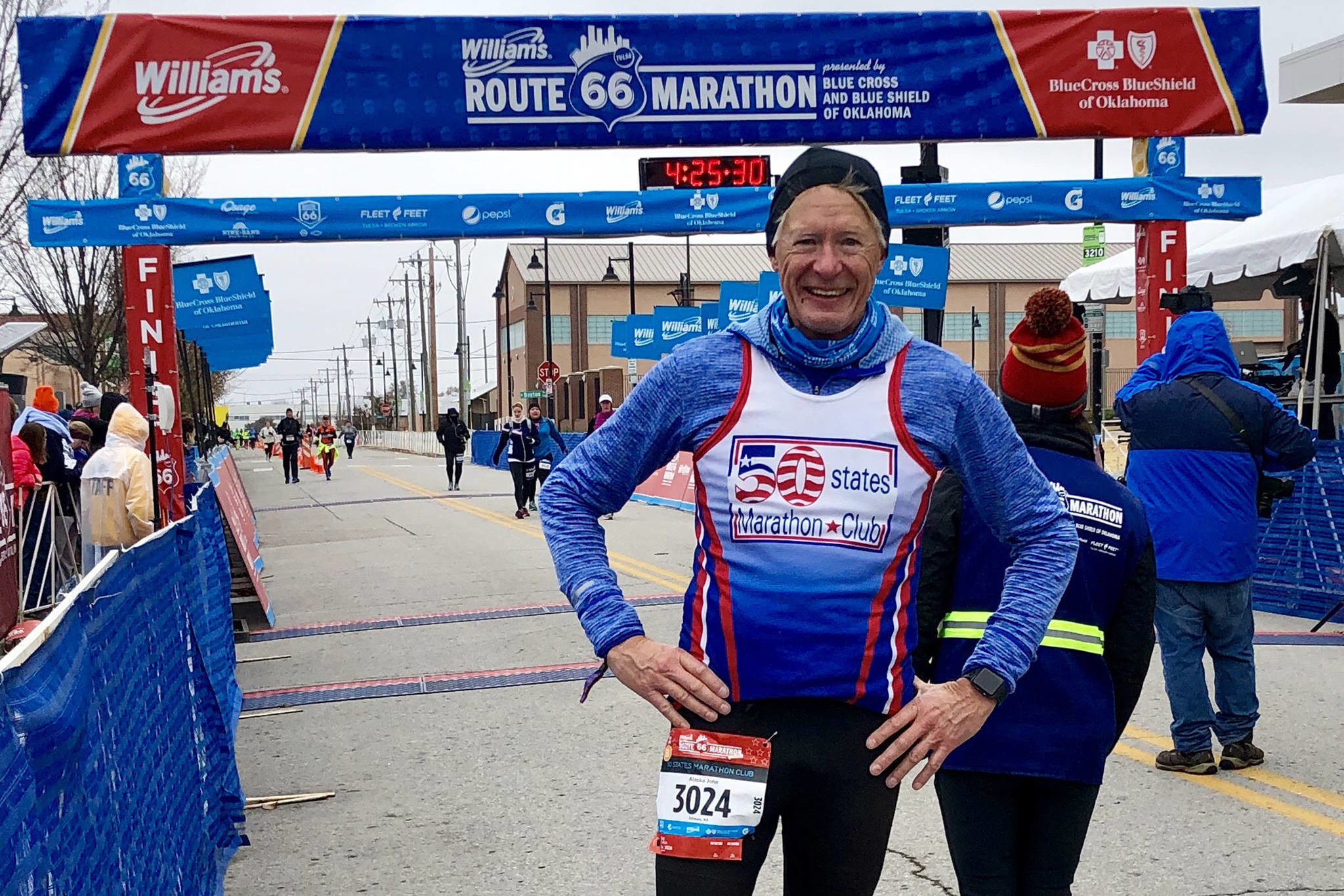 John Kern finished the Williams Route 66 Marathon this week, he completed his goal of running a marathon in all 50 states