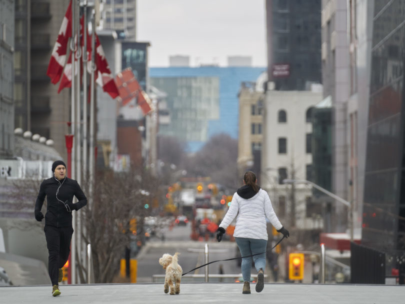 On Thursday the City of Toronto implemented a fine of up to $5000 for anyone running or walking and not staying at least two meters apart