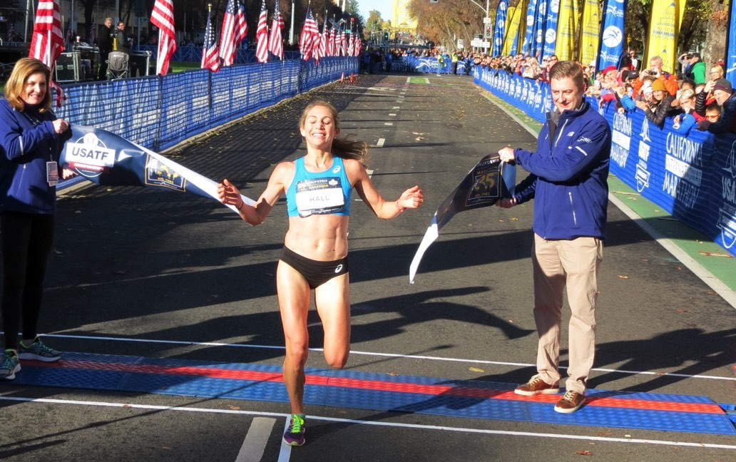 Sara Hall is set to defend her title at the Asics Half Marathon on the Gold Coast July 1