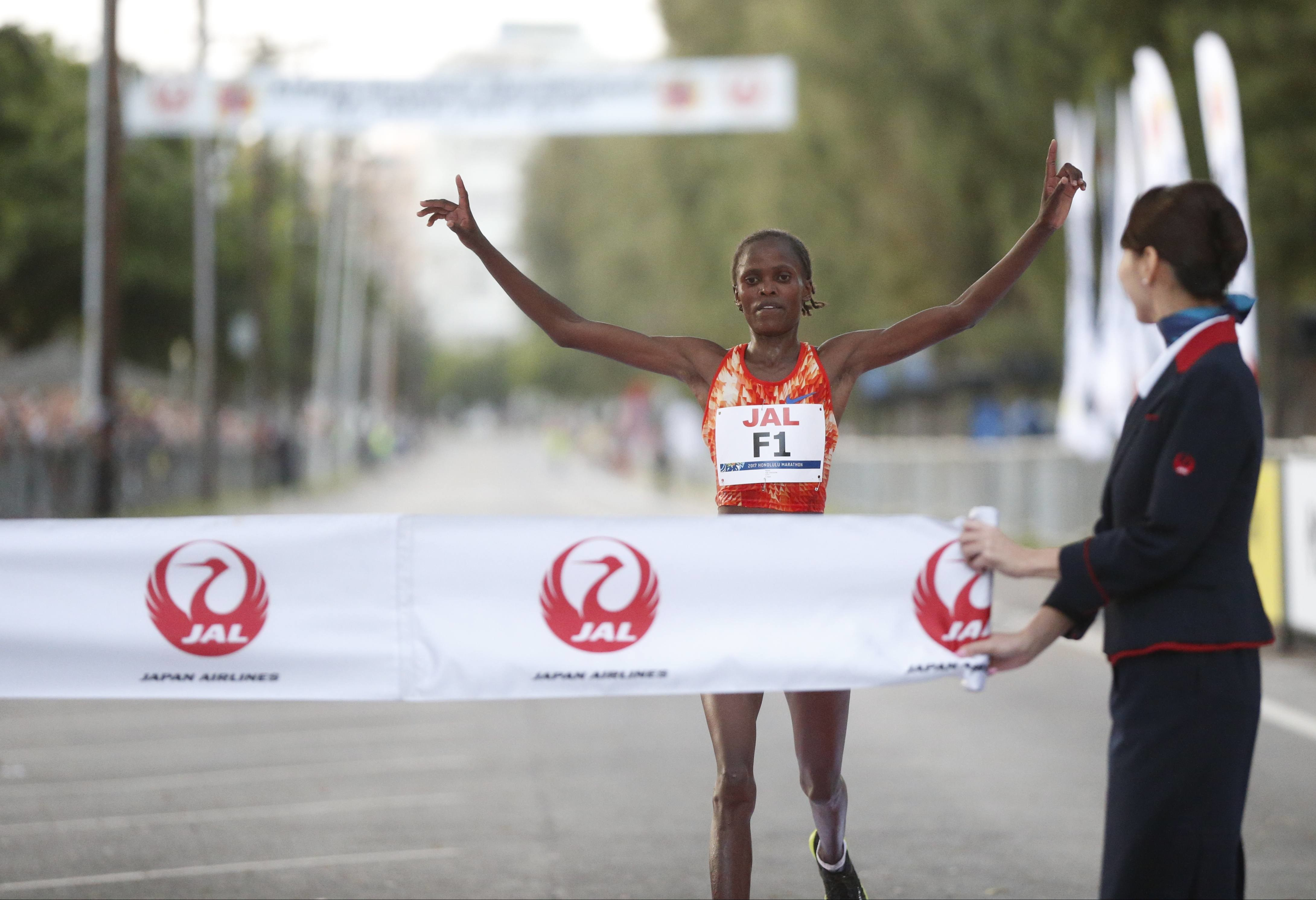 Cherono and Kosgei, Smash Records at Honolulu Marathon