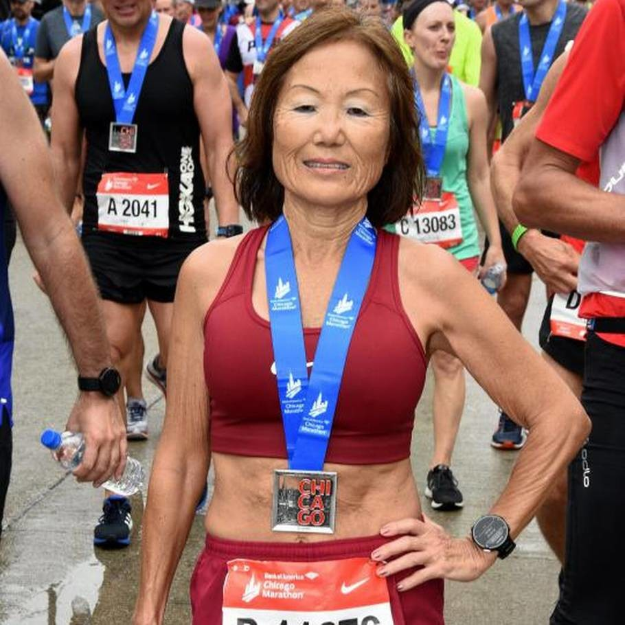 Jeannie Rice missed the world record but sets a new National Record for the Half Marathon