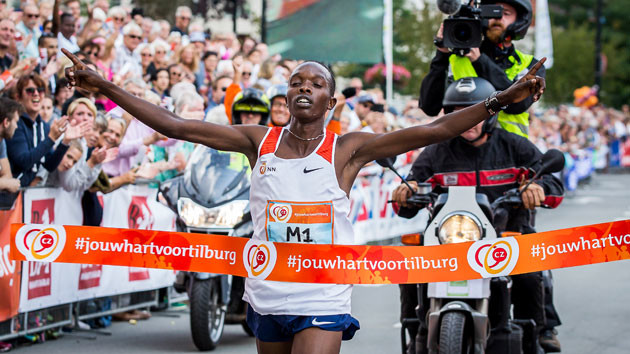 Two-time winner Rodgers Kwemoi from Kenya wants to win the Tilburg 10 Miler for the third tme