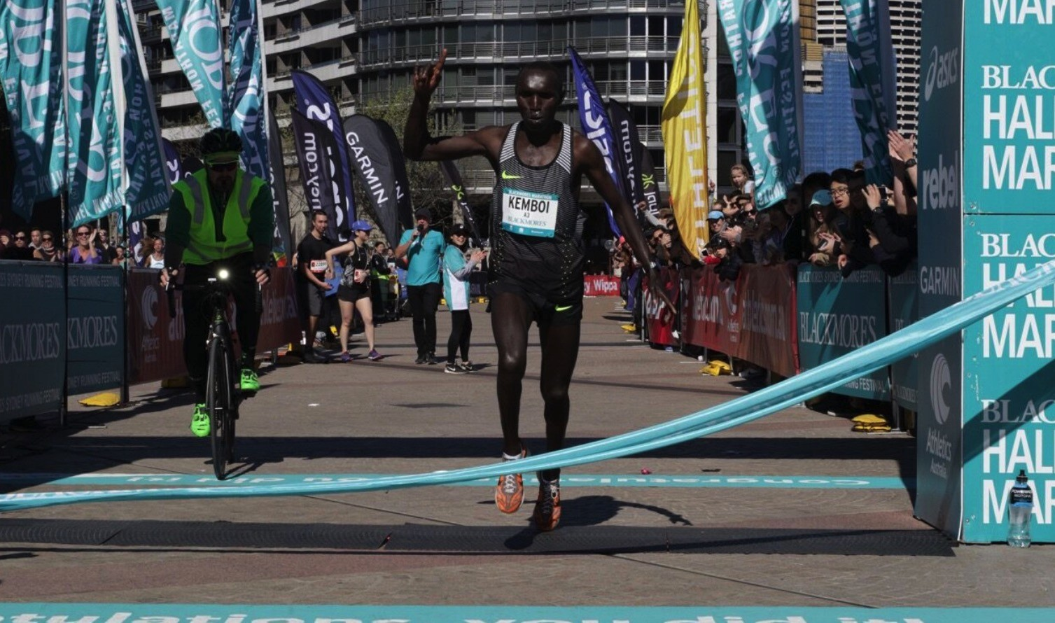 Kenya´s Elijah Kemboi was victorious  in the Blackmores Sydney Marathon