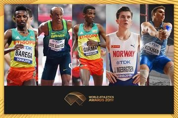 Finalists for the IAAF 2019 Male Rising Star Awards have been announced