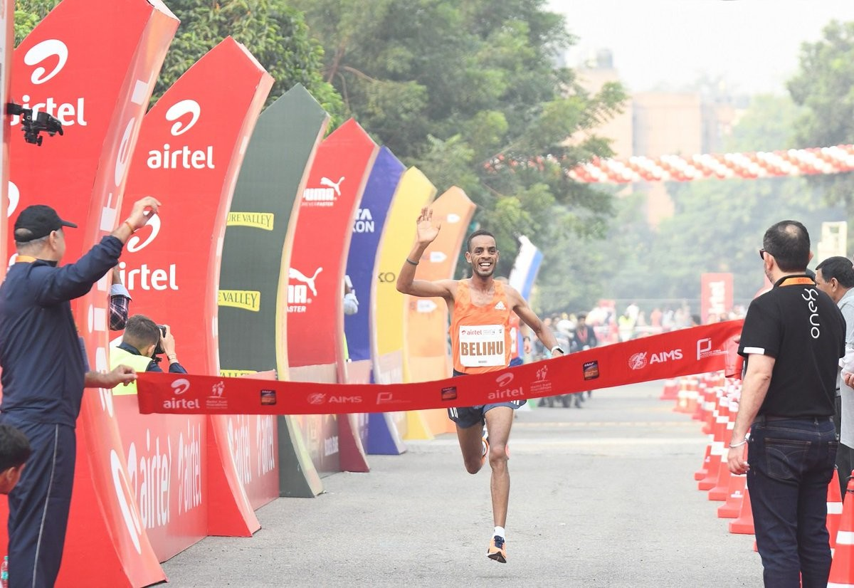 Ethiopia's Andamlak Belihu and Tsehay Gemechu are ready to defend their men´s and women´s Airtel Delhi Half Marathon titles