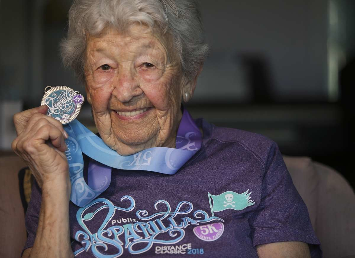 St. Petersburg's Betty Ashley is 97, and just finished her eighth straight Gasparilla Distance Classic 5K