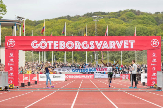Gichia and Kimining winners of the 40th Göteborgsvarvet Half Marathon