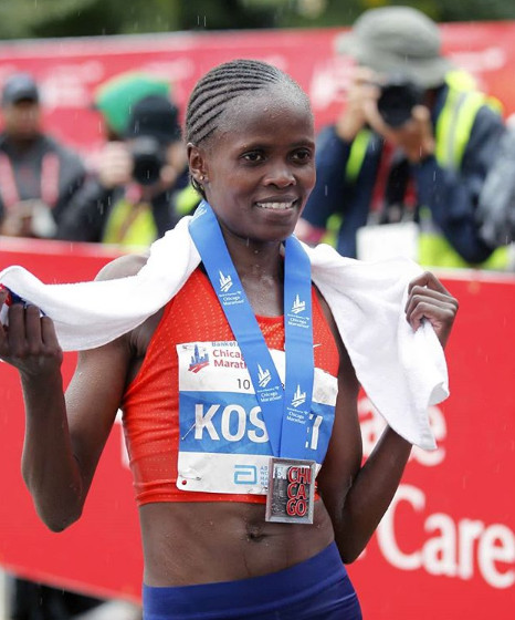 Brigid Kosgei Breaks the  World Record at the 2019 Bank of America Chicago Marathon