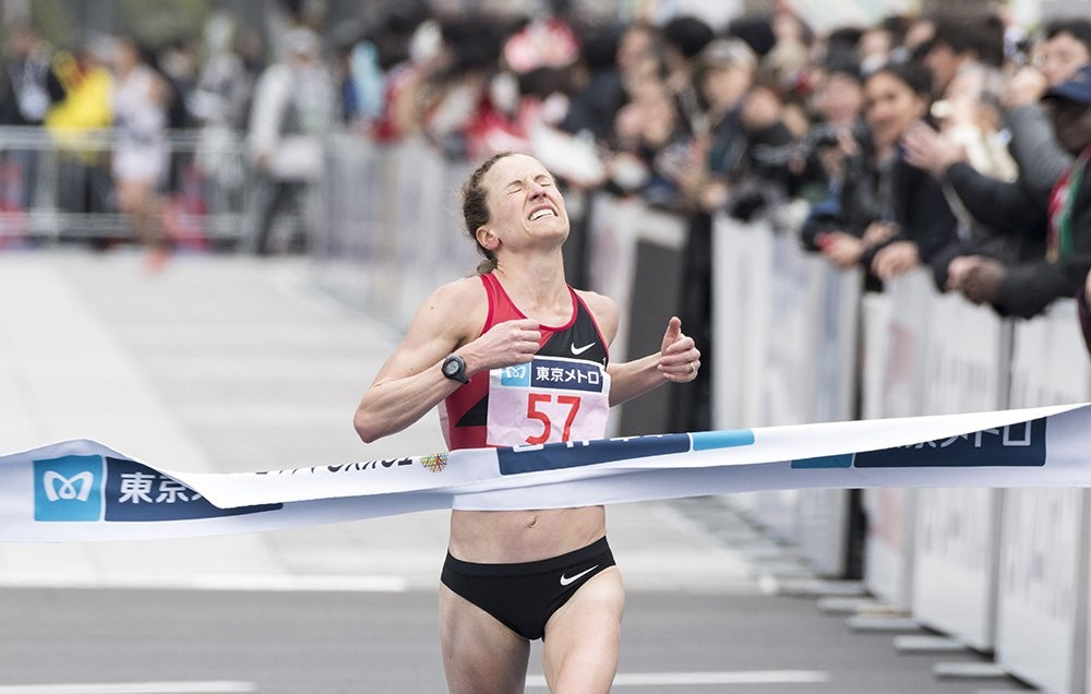 How fast did Amy Cragg run at the Tokyo Marathon?