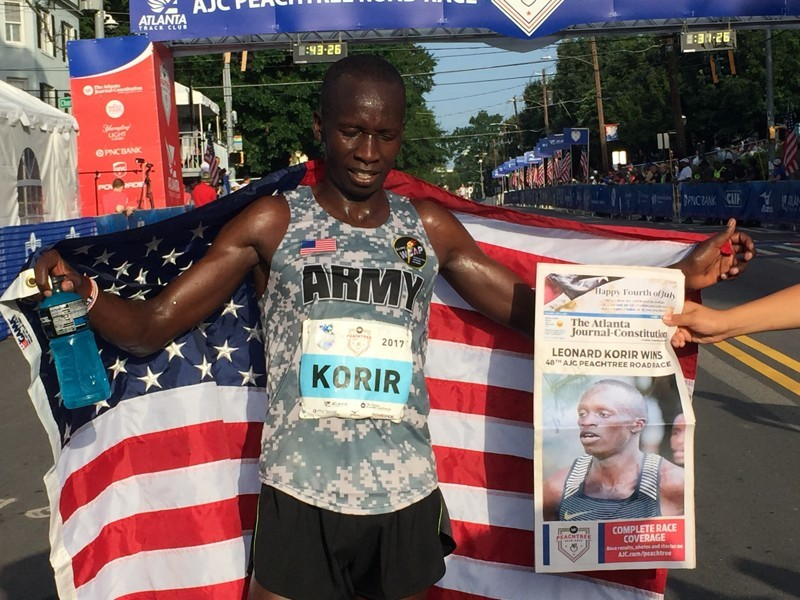 Korir  Becomes Second American to run Under One Hour