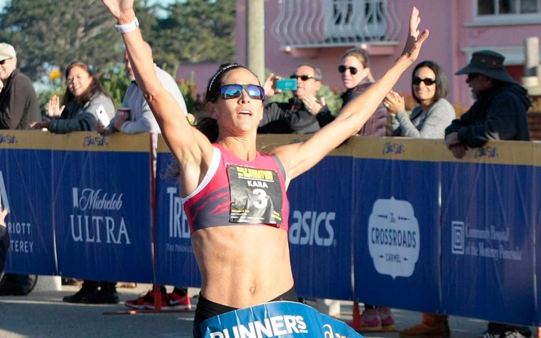 The two-time Olympian and world championship silver-medallist Kara Goucher wins age group at Leadville Trail Marathon