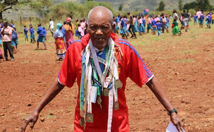 John Ruengo is an 88-year-old Kenyan Marathoner who will run Lewa Marathon for his 20th time