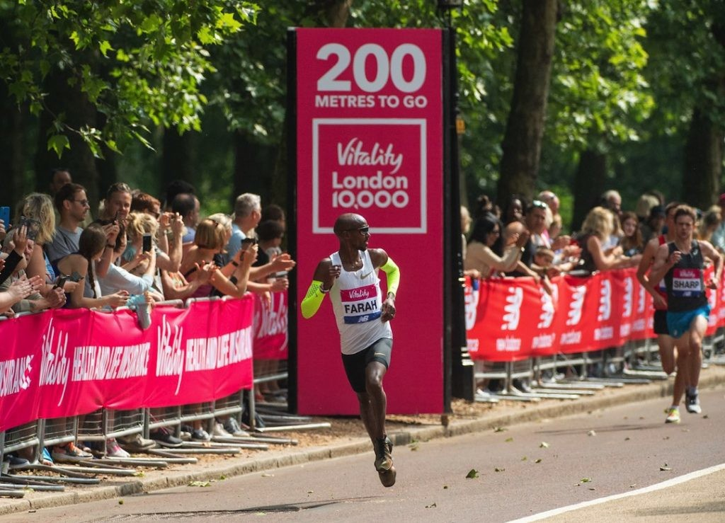 Sir Mo Farah is set to return to the Vitality London 10,000