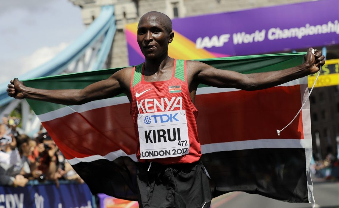 Defending champion Geoffrey Kirui and two times champion Edna Kiplagat will lead Kenya's marathon team for the World Athletics Championships in Doha