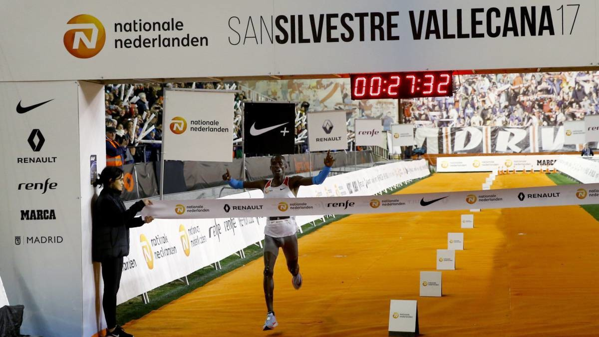 Kiptanui wins the San Silvestre Vallecana in Madrid
