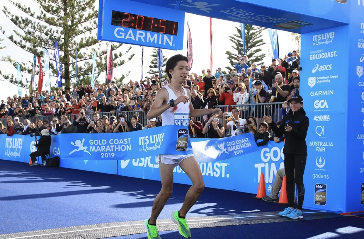 Yuta Shitara sets new course record at the Gold Coast Marathon even when weather conditions were not ideal