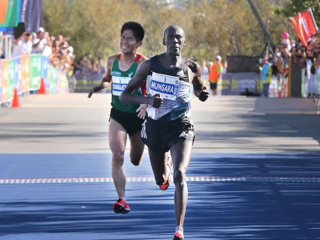 Kenyan Kenneth Mungara and Japan's Yuki Kawauchi, who produced one of the closest finishes in the event's 40-year history, will once again face each other