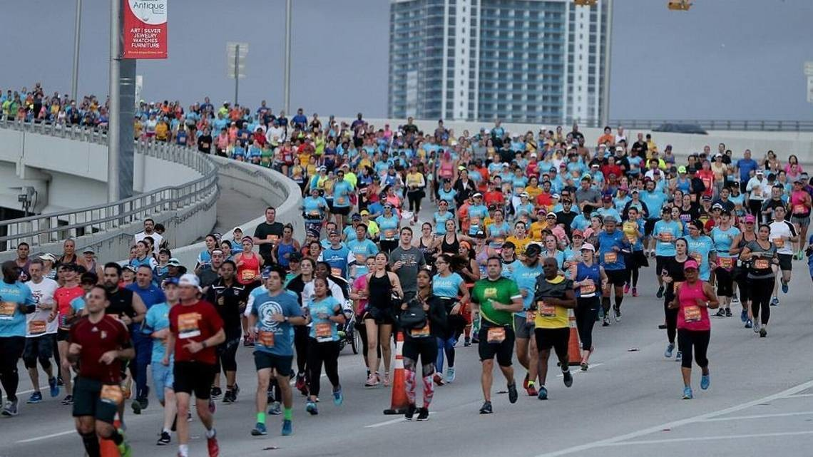 High Winds Slow Down runners at Miami Marathon
