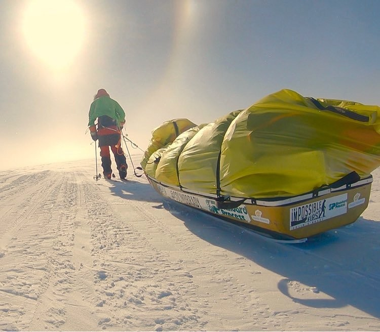 Colin O'Brady, became the first person ever to traverse Antarctica from coast to coast solo, unsupported and unaided