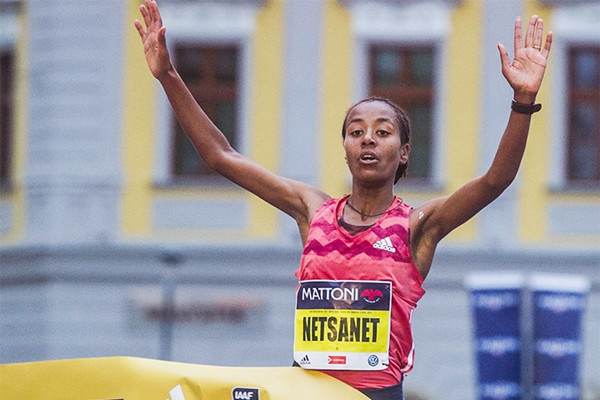 Netsanet Gudeta of Ethiopia and Stephen Kiprop of Kenya took decisive victories at the 9th Mattoni Olomouc Half Marathon
