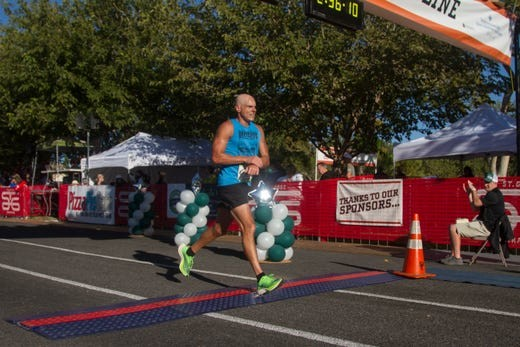 Jonathan Kotter for the second year in a row won the St. George Marathon