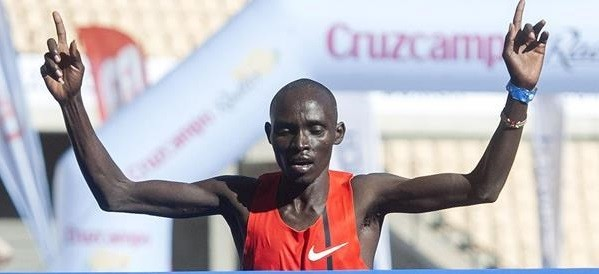 Kenya's Lawrence Cherono says he will do everything in his power to retain his Amsterdam Marathon crown