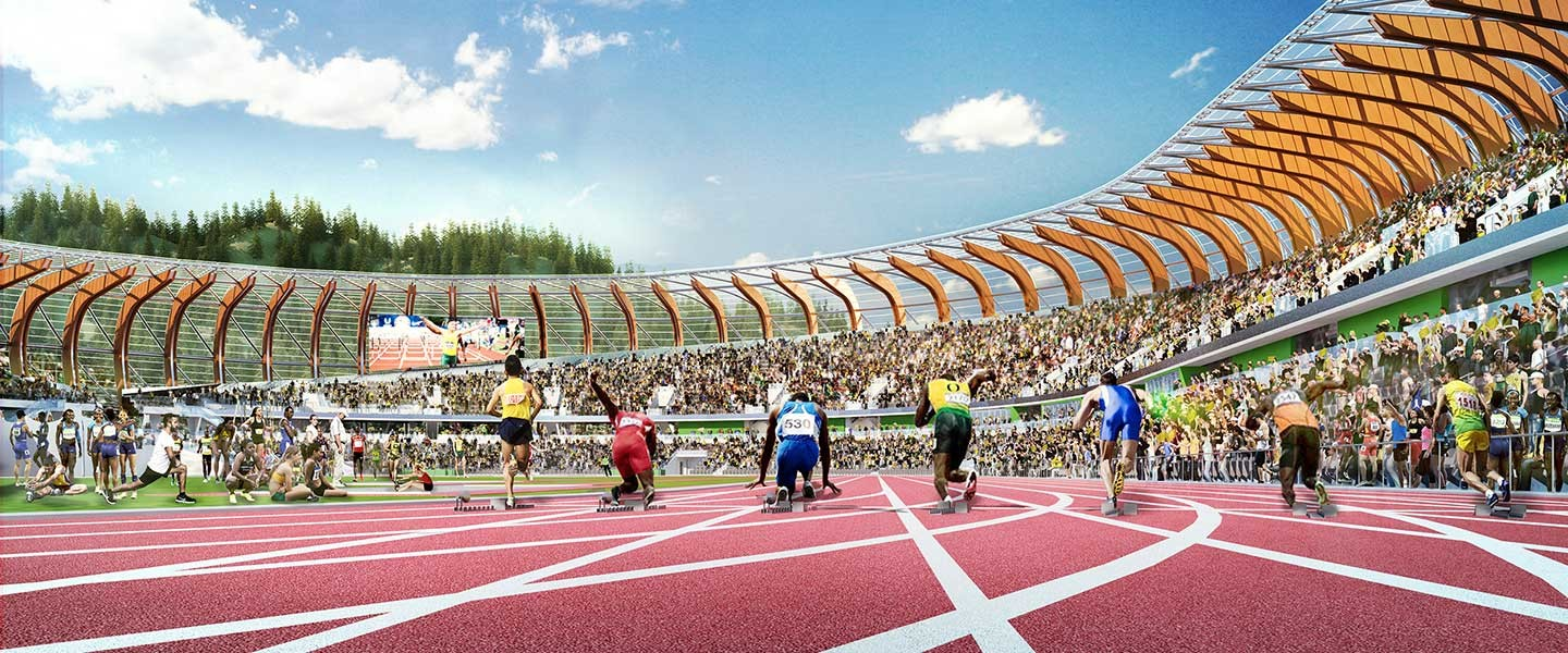 With Hayward Field's reconstruction complete, the University of Oregon takes possession