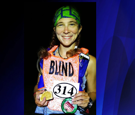 Rhonda-Marie Parke a blind runner finishes 500K ultramarathon