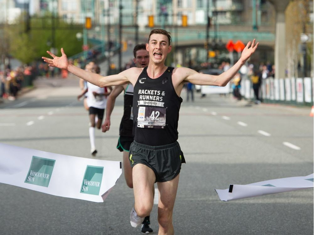 For the first time in 27 years, a local runner has taken the top overall spot in the Vancouver Sun Run