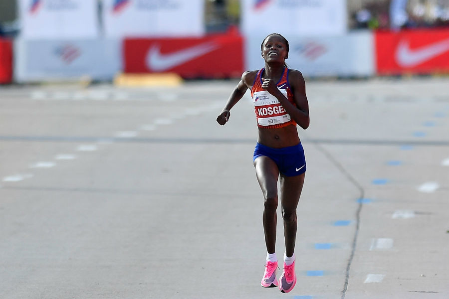 World marathon record-holder Brigid Kosgei is the standout name in the women's field for the Ras Al Khaimah Half Marathon