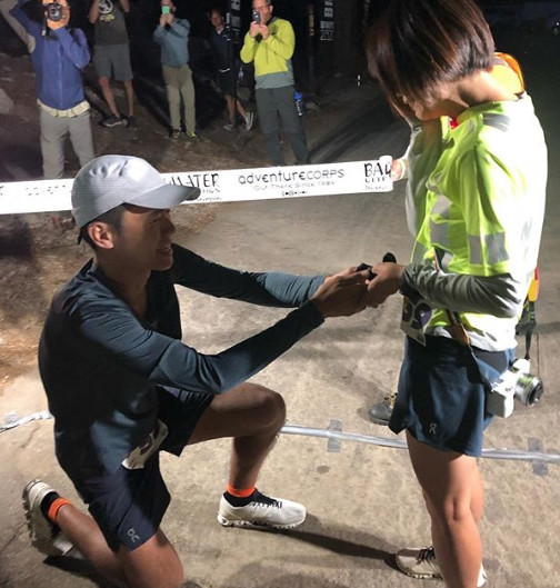An ultramarathoner won the Badwater 135 race through Death Valley, then proposed. (She said yes.)