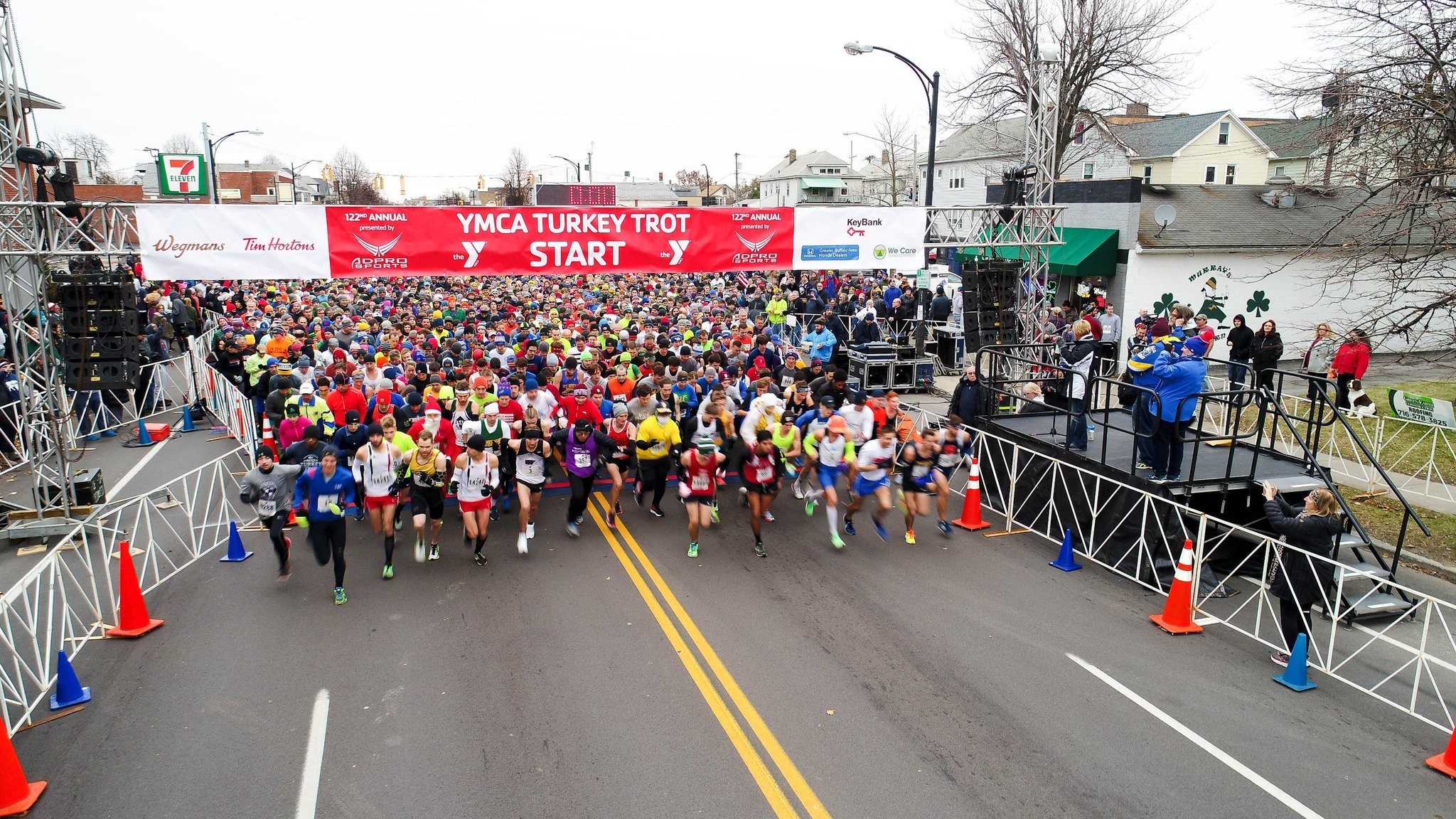 The Oldest Continuous Road Race In The World, YMCA Buffalo Turkey Trot 8-K, Will Be Held For A Record 125th Straight Year This Year