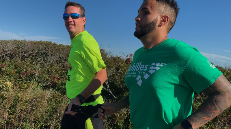 Adriel Fernandez, a blind runner veteran, gets ready for first New York City Marathon