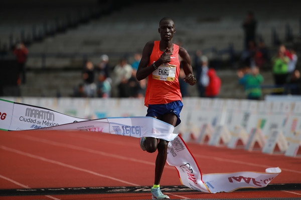 Kenya's Titus Ekiru breaks course record at Mexico City Marathon