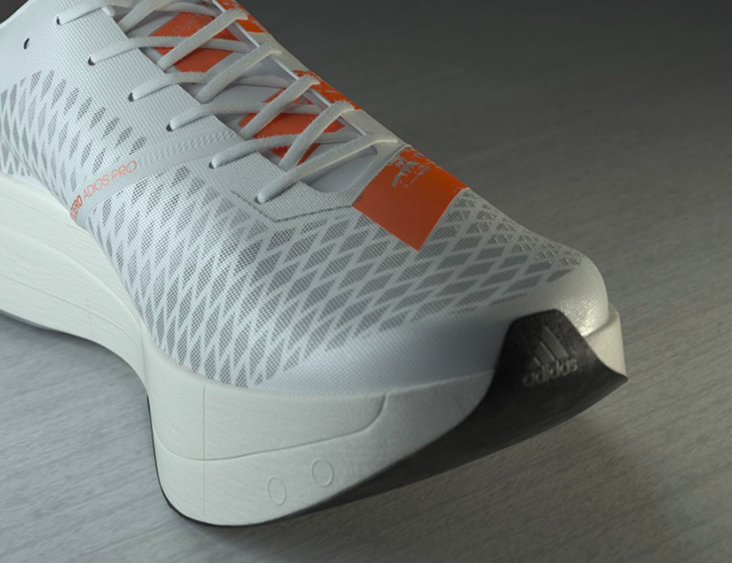 Adidas releases adizero adios Pro, Complete with five carbon-infused rods and LightstrikePRO midsole, this shoe doesn't actually have a carbon plate per se