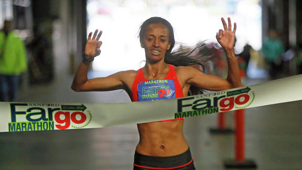 Third Win for Tesfaye at the Fargo Marathon on Saturday May 19