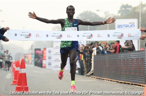 Barsoton and Shone smash race records at Kolkata 25K