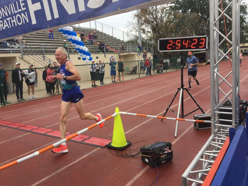 Ed Whitlock's world 70 plus marathon record has been broken by Gene Dykes