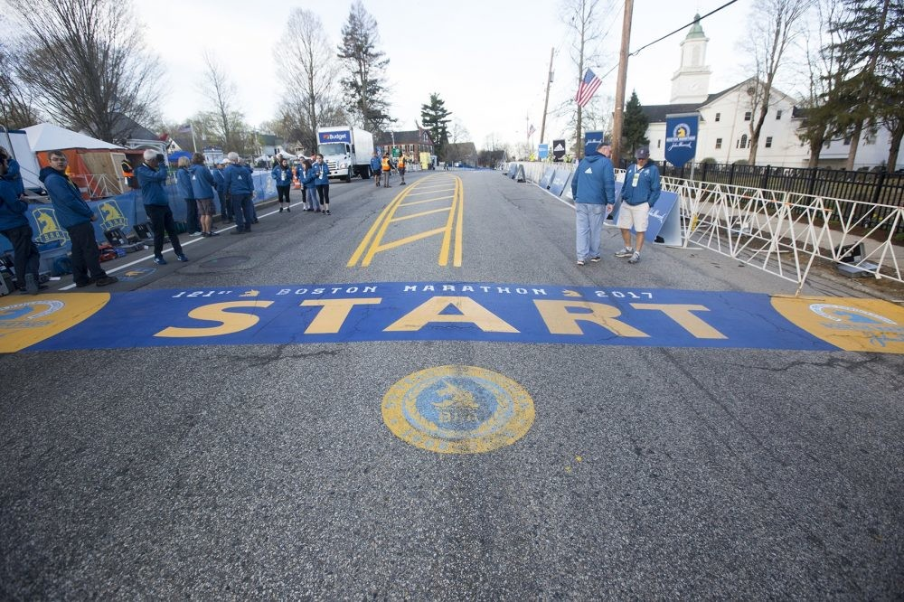 Hopkinton the starting line for the Boston Marathon hopes to create the International Marathon Center