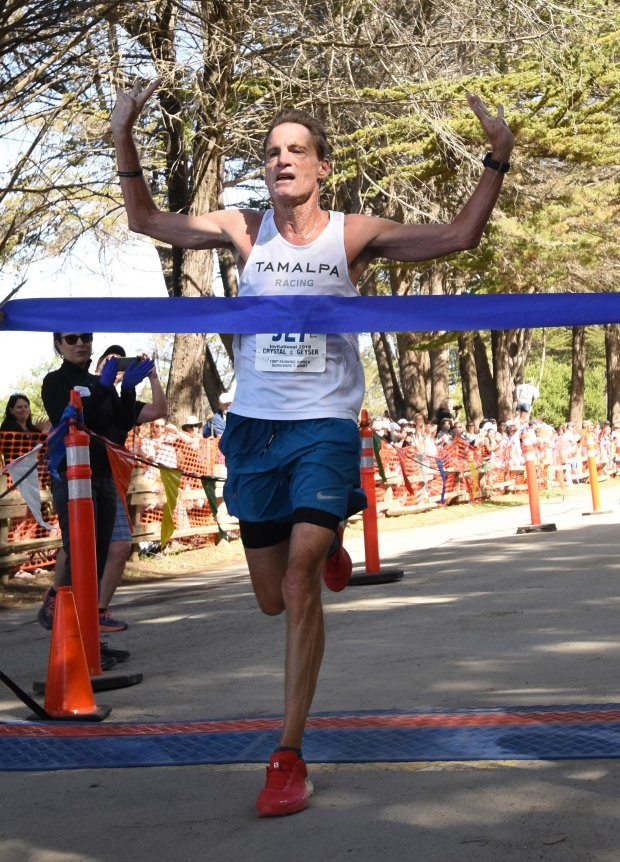 Age-group superstar 62-year-old Brian Pilcher wins the Dipsea for the fourth time.