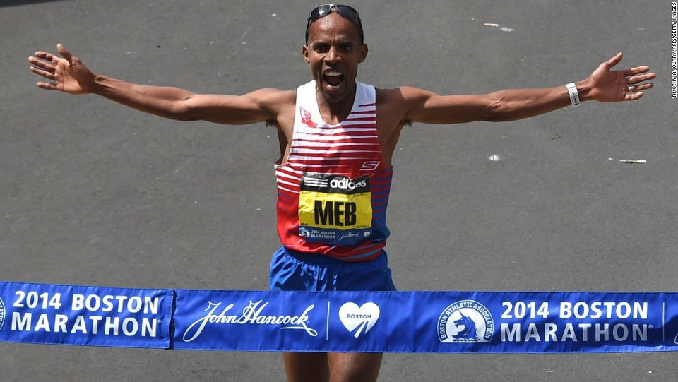 Remembering Boston  2014, when Meb Keflezighi ran all the way to one of the defining victories in the race's 123-year history, becoming the first U.S. male runner to win in 31 years