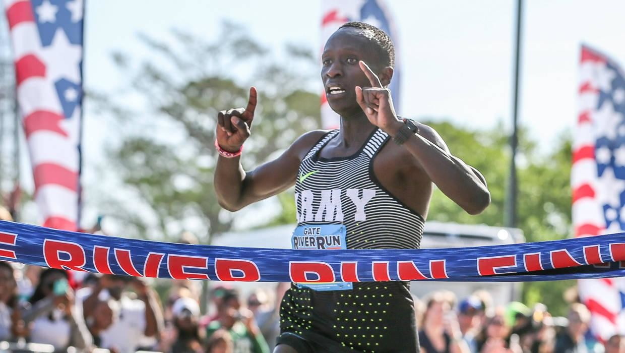 Olympian Leonard Korir is aiming to become only the fourth man to win the Gate River Run three years in a row