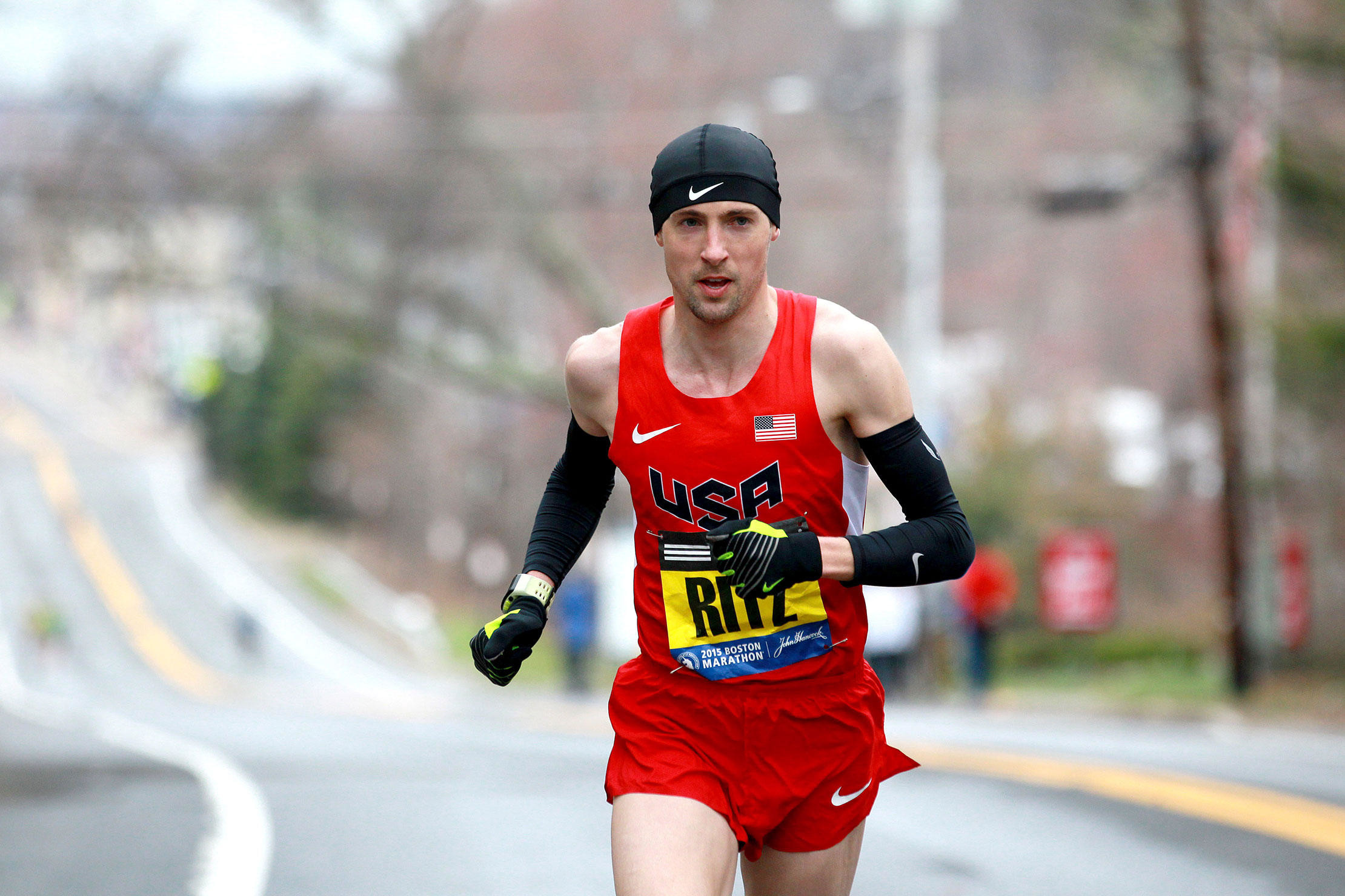 Ritzenhein, in preparation for his second appearance at the Boston Marathon