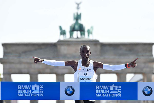 Eliud Kipchoge smashed the World Marathon Record clocking 2:01:39 in Berlin