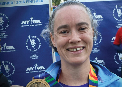 Marathoner Robin Hornberger says her first run was Pitiful but she stayed with it