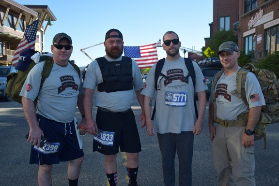 Former soldiers ran the Lake Placid half marathon to raise money for the Rangers Lead the Way Fund