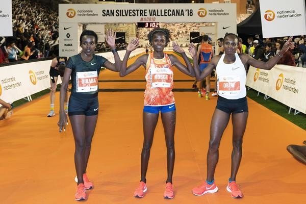 Kenya's Kosgei smash the woman's course record in Madrid's 54th Annual San Silvestre Vallecana 10k