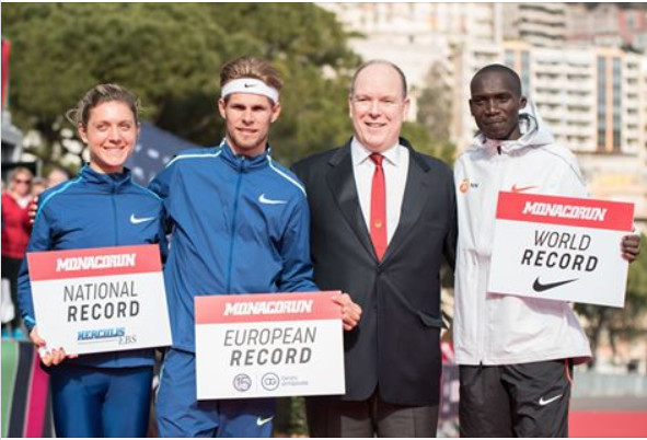 Cheptegei shattered the world 5km road record in Monaco