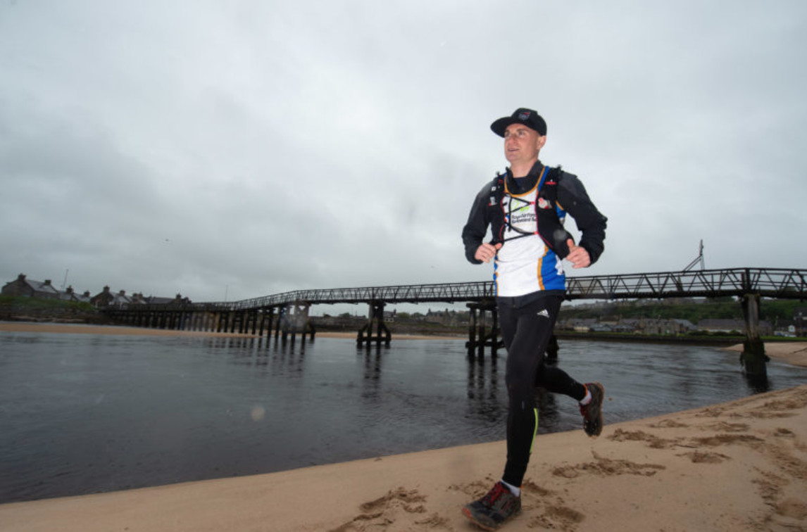 Jon Ward is embarking on an expedition to become the first person to run the entire North East 250 tourist trail in Scotland